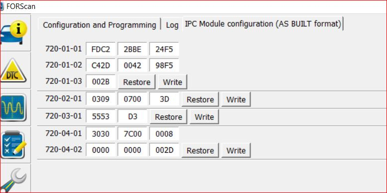 Ford Edge Ipc Codes