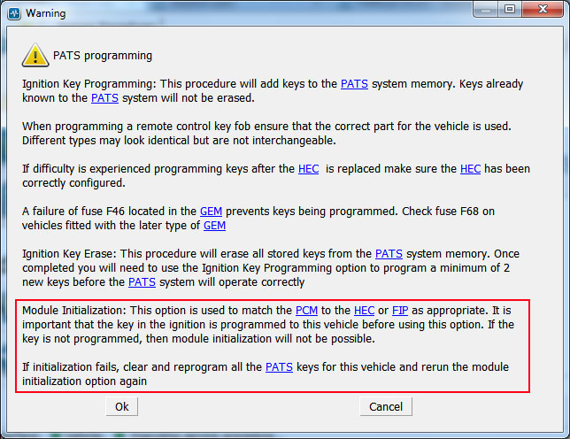 How to use PATS Module Initialization function - FORScan forum